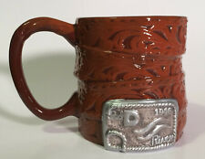 Vandor John Wayne Buckle Sculpted Ceramic Mug Collectors 20 oz. Coffee Cup - New