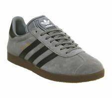 Adidas Gazelle Trainers Grey Black Gum Trainers Shoes