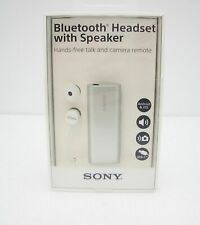 Sony SBH56 Bluetooth Headset with Speaker, Silver - Retail Packaging
