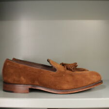 Loake Russell Loafer Shoes 10 F in Polo Brown Suede on Leather Sole (130)