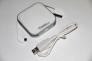 2X Duracell powermat Portable Backup Battery POWERBANK Galaxy S7 Note 5 HTC LG