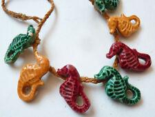 Collier avec des hippocampes en faïence  Vintage vers 1960 hippocampe seahorse