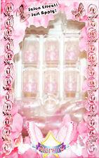 Starsire Pink White Snow Flakes Japan Acrylic Fake 24 3D Shiny Full Nails