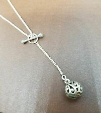 SILPADA N1619  Oxidzd Sterling Silver Necklace Swirling Filigree Pendant RET