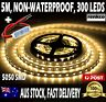 5050 Warm White 300 LEDs Non Waterproof Flexible DC 12V Led Strip Light + DIMMER