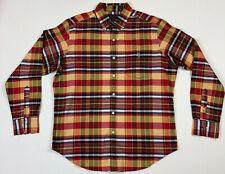 US POLO ASSN Colorful Bright Plaid Long Sleeve Shirt Sz Large