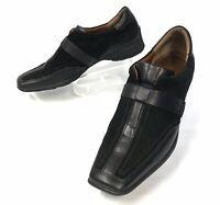 HOGL SPORT Women's Black Driving Loafer Suede Loafer Slip On Sz 5.5  (sh-144)