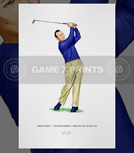 Arnold Palmer Major Champion Golfer Illustrated Print Poster Art