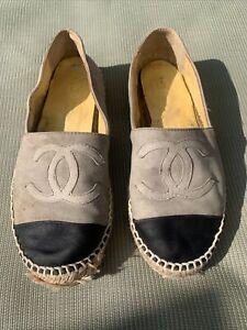 Chanel Grey espadrilles size 5 38
