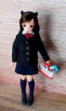 Azone no pure neemo body ex cute Aika black cat 1/6 doll nude + School uniform