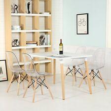 4er Stuhl Plastik Küchenstühle Esszimmerstühle Wohnzimmerstuhl Transparent Clear