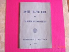 Colorado Model Traffic Code Highway Safety Council 1966