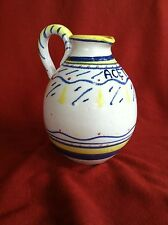 Hand Painted Pitcher, Italian, For Vinegar