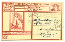 NEDERLAND 1925 ILLUSTR. PS USED FROM DUTCH INDIES !!! TAXE ?? --37½ Ct