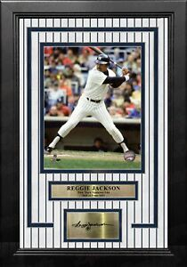 Reggie Jackson New York Yankees 8x10 Framed Photo with Engraved Autograph