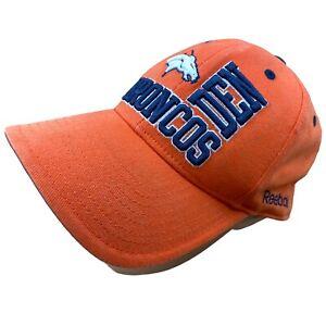 Reebok NFL Embroidered Baseball Cap Hat Denver Broncos Orange Vintage Football