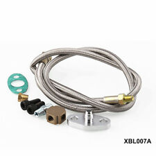 Braided T3 Turbo Charger Aluminum Alloy 1/8 NPT Fitting Hose Oil Feed Line Kit