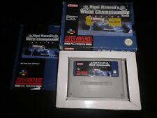 Super Nintendo, Snes - nigel mansells world championship racing - 100% boxed