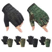 Anti-Slip Halbe Finger Handschuh Frauen Männer Radfahren Motorrad Jagd Handschu