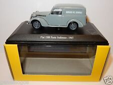 RARE UNIVERSAL HOBBIES FIAT 1100 ITALIENNE 1947 POSTES POSTE PTT 1/43 luxe box