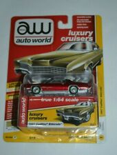 2019 AW AUTO WORLD 1967 CADILLAC ELDORADO  ERROR !! RED MODEL IN GOLD PACKAGE !
