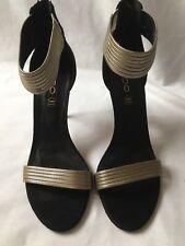 ALDO black suede 100% leather sandals heels blogger sz. 7UK BNIB