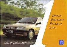 Peugeot Diesel 106 205 306 405 605 1993-94 Original UK Sales Brochure M/CP 0093