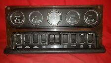 Jaguar  XJ6/XJ12  Series 1 Centre Dash Clocks and switches, Early chrome dials