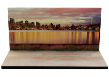 Diorama présentoir Seattle by night - 3 inch   1/64ème - #3in-2-C-C-004