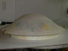 Milchglas Deckenleuchte rund Durchmesser ca.40,0cm. Blumenmotive