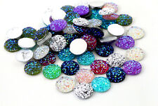 12mm Druzy Style Resin Cabochons | Mixed Colours | 40pcs per pack