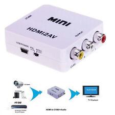 1080P HDMI to RCA Audio Video AV CVBS Adapter Converter For HDTV Female-Female