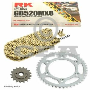 Chain Set Husqvarna Wr 300 11-12 Chain RK GB 520 MXU 112 Open Gold 14/48