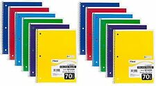 """12 Notebooks Pack Mead College Ruled Spiral Notebook 1 Subject 70 Sheets 8x10.5"""""""