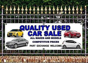 OUTDOOR PVC  USED CAR  SALE 1 BANNERS GARAGE SIGN ADVERT FREE ART WORK READY