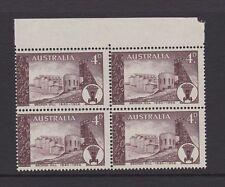 Australia 1958 75th Anniv of Broken Hill MNH SG305 Block of 4 Silver