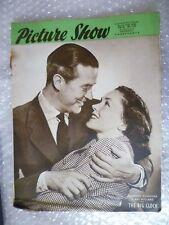 1948 PICTURE SHOW Magazine-Maureen O'Sulliva,Ray Milland in THE BIG CLOCK,17 Apr