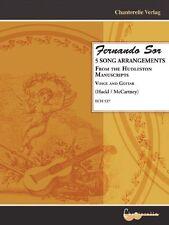 Fernando Sor, 5 Song Arangements from Hudleston Manuscripts by Stefan R. Hack, M