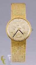 Lucien Piccard Gold Eagle 14k Yellow gold Mechanical Watch w/ Mesh Band