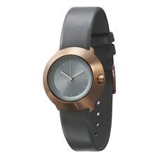 "Normal Timepieces ""Fuji"" Quarzo Acciaio Oro Rosa Pelle Grigio Orologio Donna"