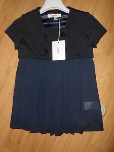 abito vestito elegante bimba bambina JUCCA JUNIOR color blu scuro tg.3-4 anni