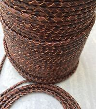 Fair Chocolate Round Bolo Leather Braided Cord - 4 mm - Brown - Premium Leather
