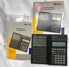 Hp 19Bii Business Consultant Ii Calculator w/ Manual Box new batteries Side Door