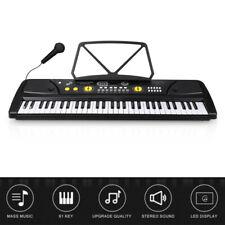 61 Key Full Size Electronic Piano Keyboard Electric Lcd Usb Input Mp3 Music Mic