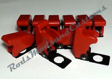 10 x RED MISSILE SWITCH COVERS suit 12mm toggle switch car racing dash light