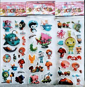 Octonauts Stickers Vinyl Loot Bag Birthday Party sticker 10 sheets