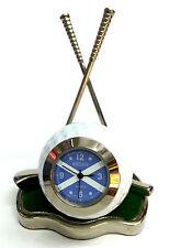 Scotland Golf Clock,Silver plated Scottish Desk Clock
