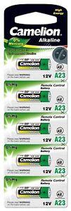 5 piles Alcaline Camelion 23A A23 LR23A LRV08 GP23A MN21 12V (0% mercure)