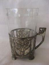 baccarat et  porte verre argenterie  art nouveau WMF plewkiewicz warszawie 1900