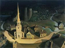The Midnight Ride of Paul Revere :  Grant Wood : circa 1931 :   Fine Art Print